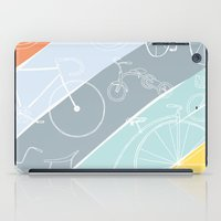 bikes iPad Cases featuring Bikes Bikes Bikes by Badger & Bee