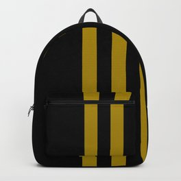 black on gold pattern Backpack