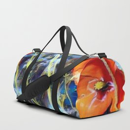 Abstract Poppies Duffle Bag