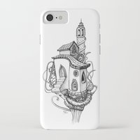 castle in the sky iPhone & iPod Cases featuring Castle in the sky by Mary Koliva