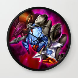 Street Clown Lost in Space Wall Clock