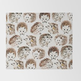 Hedgehogs Throw Blanket