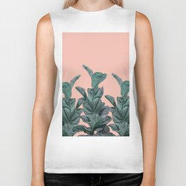 Rubber trees in group with beige pink Biker Tank