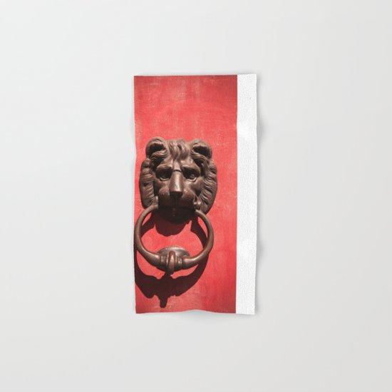 Red Door with Lion head  Hand & Bath Towel