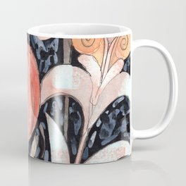 Mixed Flowers with Tulip on Black Coffee Mug