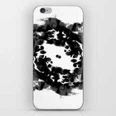 Enso black and white minimal watercolor japanese abstract painting zen art iPhone & iPod Skin