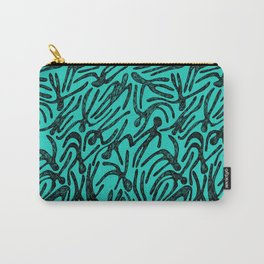 pattern with black shapes Carry-All Pouch