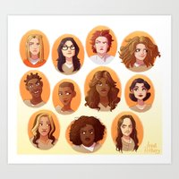 oitnb Art Prints featuring OITNB by Anna Rettberg