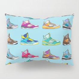 Colorful Sneaker set illustration blue illustration original pop art graphic print Pillow Sham