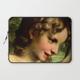 "Antonio Allegri da Correggio ""Madonna of St. Jerome""(detail) Angel Laptop Sleeve"