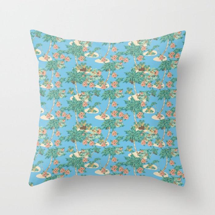Aloha blue Throw Pillow