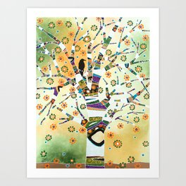 Raven Tree of Life Art Print
