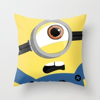 minion Throw Pillows featuring Minion by Janice Wong