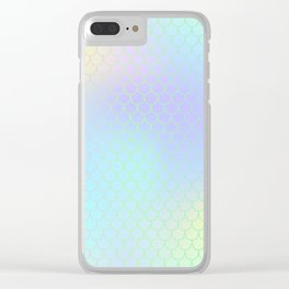 Aqua Green Mermaid Tail Abstraction Clear iPhone Case