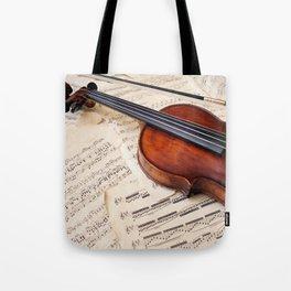 Violin music and notation Tote Bag