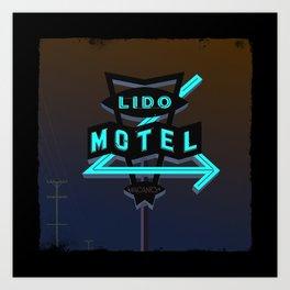 Lido Motel Art Print