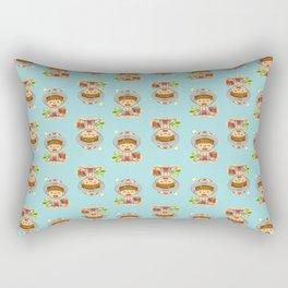 little boy & red crab Rectangular Pillow