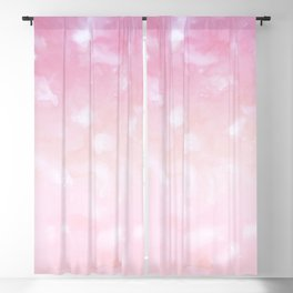 Touching Pink Coral Abstract Painting #1 #ink #decor #art #society6 Blackout Curtain