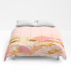 Graphic Mountains S Comforters