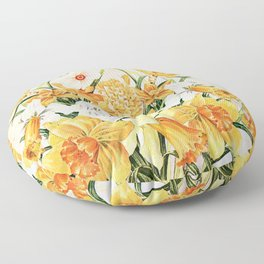 Wordsworth  and the daffodils. Floor Pillow