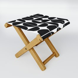 Mid Century Modern Geometric 04 Black Folding Stool