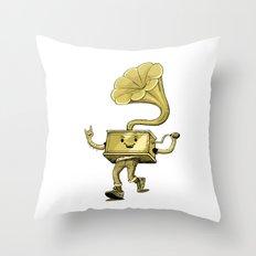 gramaphone Throw Pillow