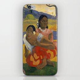 Paul Gauguin -  Nafea Faa Ipoipo (When Will You Marry?) iPhone Skin
