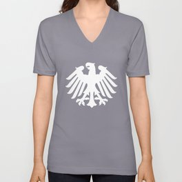 German Soccer - Deutschland Germany Eagle Crest Unisex V-Neck