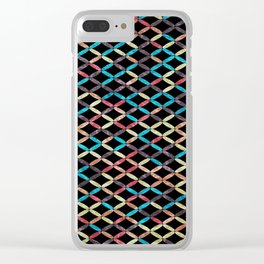 Colorful Geometric Pattern #03 Clear iPhone Case