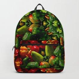 Peppy pepper mandala - green center Backpack