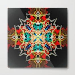 Ornament Vibrant Abstract Design Metal Print