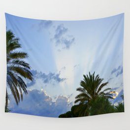 Palms on Clouds  Wall Tapestry
