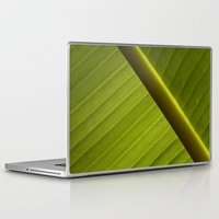 banana leaf Laptop & iPad Skins featuring Banana Leaf by Maria Heyens