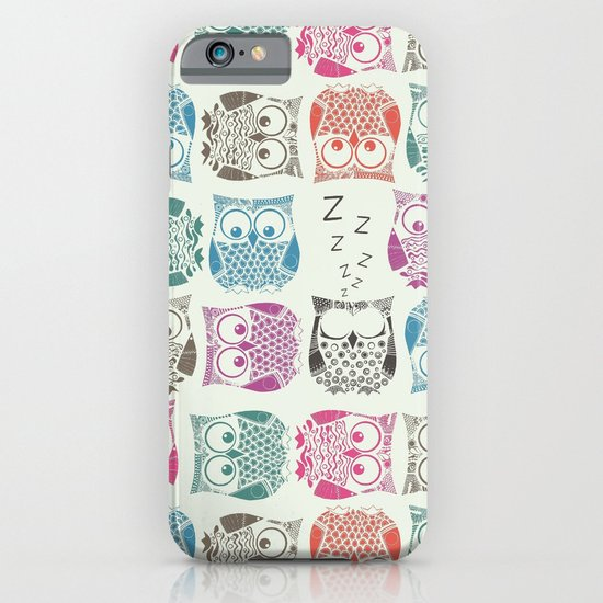 light sherbet owls iPhone & iPod Case