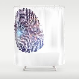 COSMIC TRACE Shower Curtain