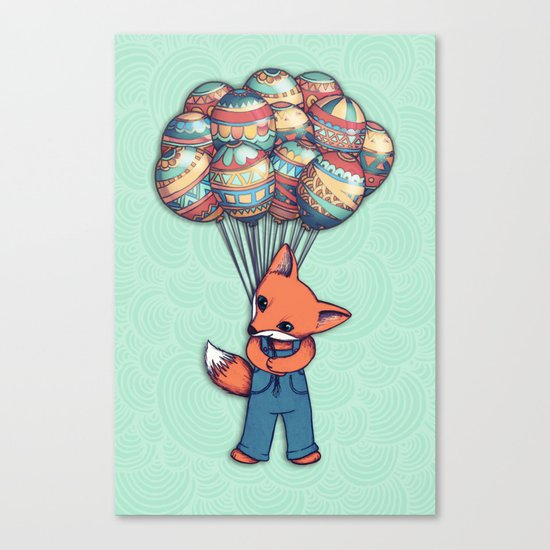 A Bunch of Balloons for my Baby Canvas Print
