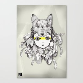 Be A Warrior Canvas Print