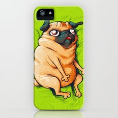 Pug Roll Slim Case iPhone (5, 5s)