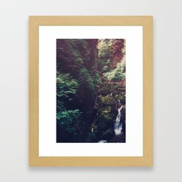 Waterfall Wilderness Framed Art Print