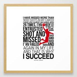 M.Jordan Chicago bull Motivation Framed Art Print