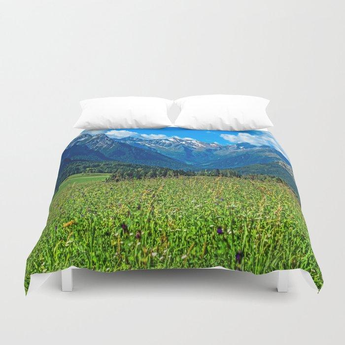 Bergwiese mit Talschluss Duvet Cover