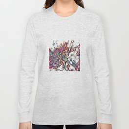 Japanese Inspired Lily Design Sketch Long Sleeve T-shirt
