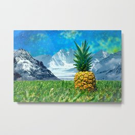 Alaska Pineapple Metal Print
