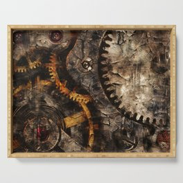 Gearing Up - Steampunk Gears Serving Tray