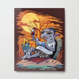 Vampire At The Beach  Metal Print