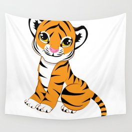 Little Tiger Cub Wall Tapestry