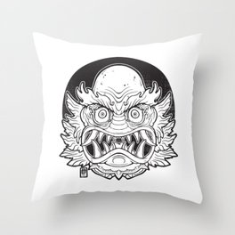 Oni from the Black lagoon Throw Pillow