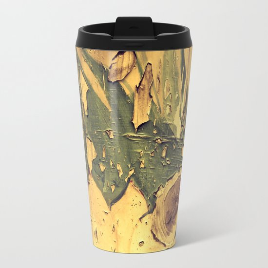Old Wood 04 Metal Travel Mug