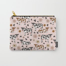 Cow and Flowers Western Pattern Carry-All Pouch