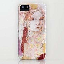 girl without wolf iPhone Case